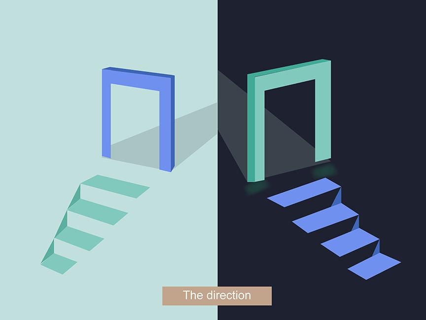 The direction illustration