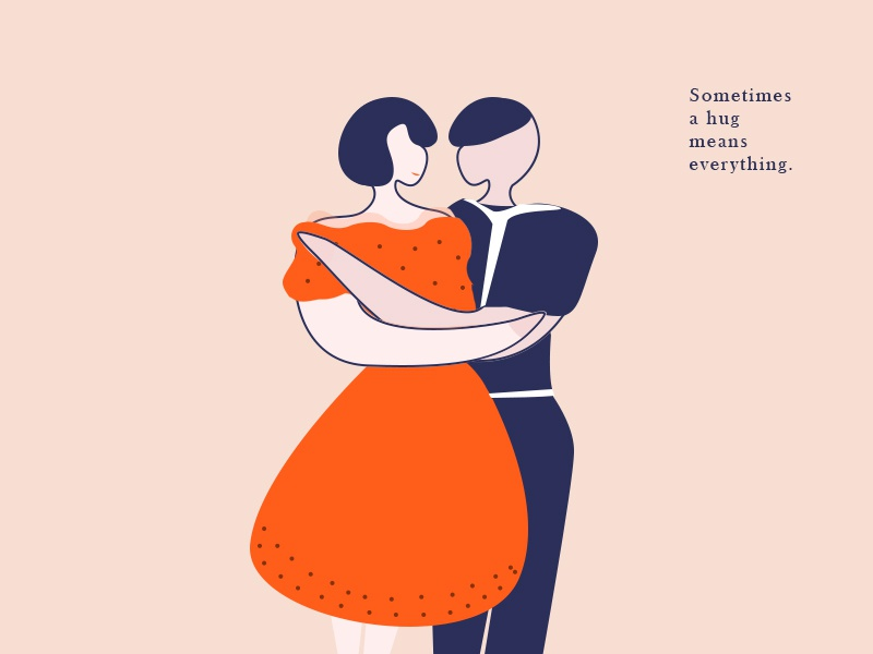 sometimes a hug means everything. drawing illustration