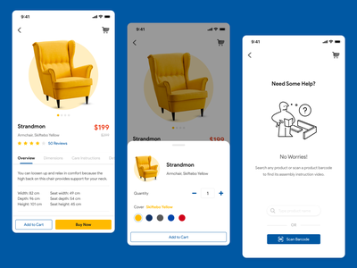 IKEA - Product Detail Page ecommerce ios cart barcode product design shopping ux ui help product detail page ikea
