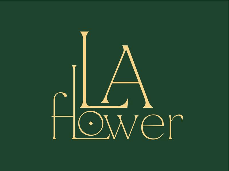 La Flower design branding logo