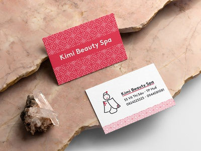 Kimi Beauty Spa japan spa minimalist branding logo