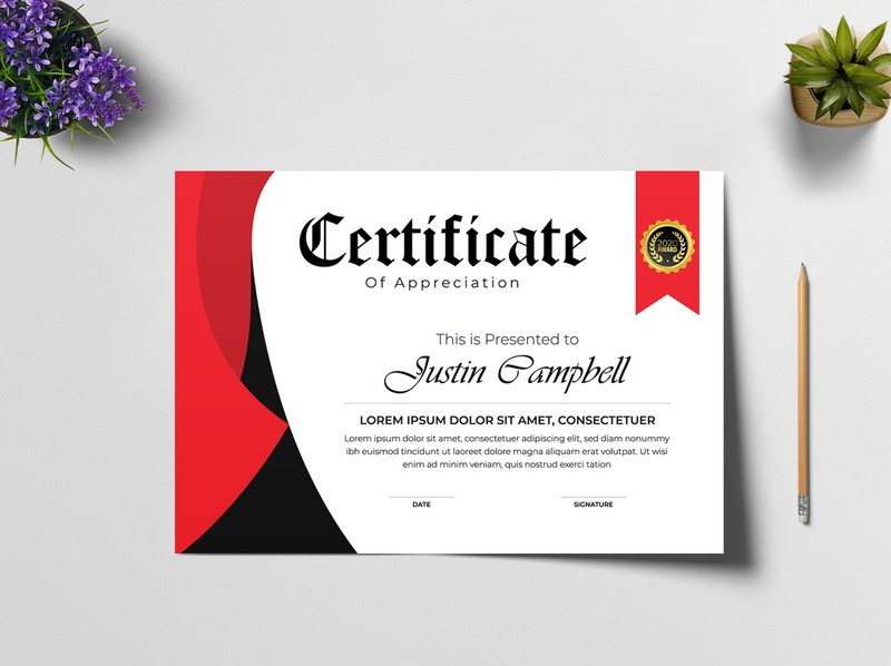 Certificate of appreciation award template in abstract style template builder template degree certificate design award appreciation