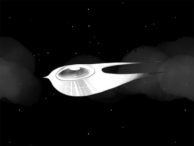 Spaceship/Web Animations API demo interactive illustration stars spaceship space web animations api waapi