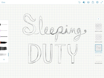 Sleeping Duty logo in progress logo sleeping beauty