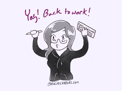 Yay Back To Work illustration reaction reaction shot