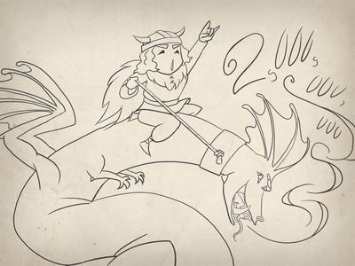 Dragon-Riding Viking