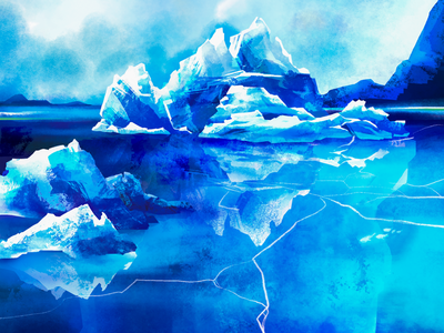 An iceberg environment mountain illustration global warming nature magazine cover iceberg ice snow arctic antarctica