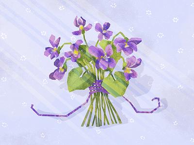 Wood violet bouquet gift nature violet sweet violet illustration flower plant wood violet