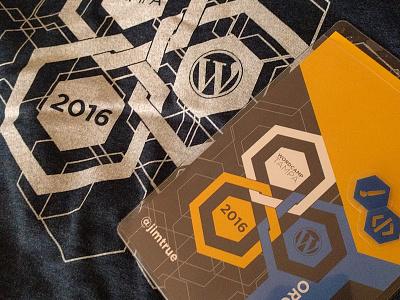 WordCamp Tampa 2016 flat branding logo design