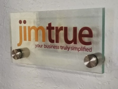 Jim True, LLC logo flat branding