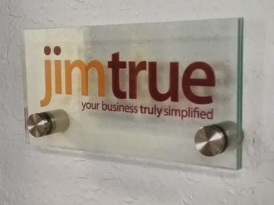 Jim True, LLC logo flat branding