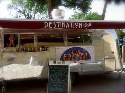 Destination Grill signage logo branding