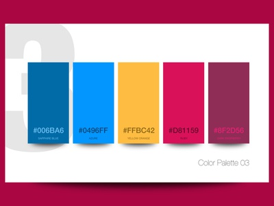 Color palette 03 blue azure yellow ruby colors color pallete color pallet color palettes color palette color branding design branding brand identity brand design brand