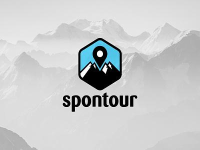 Spontour typography logo 3d branding travel travel logo adventure logo adventure cheap logo design logo designer business logo logo design