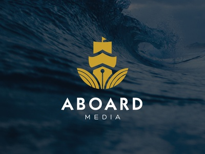 Aboard Media best logo design design custom logo design advertising logo illustration minimal logo logo business logo cheap logo design clever logo ship media media logo ship logo boat logo branding logo designer logo design