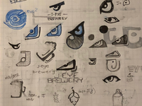 Logo sketches and explorations