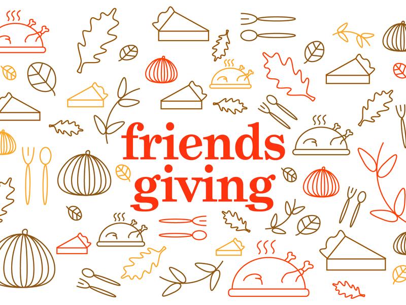 Friendsgiving Event Branding