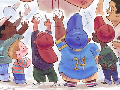 Scbwi Admire2 illustration animation cartoon design character drawthis digital art scbwi sports baseball