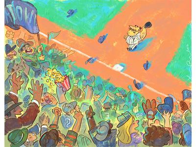 Homerun kidlit artist illustration animation cartoon design character drawthis digital art scbwi sports baseball