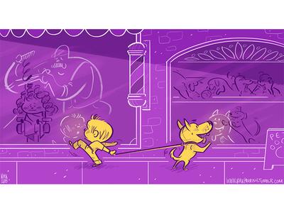 Reflection love dogs pink kidlit artist illustration animation cartoon design character digital art scbwi
