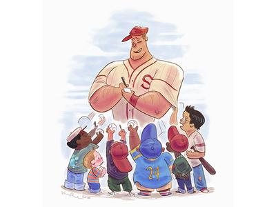 Admire kidlit artist illustration animation cartoon design character drawthis digital art scbwi sports baseball