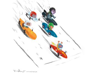 Celebration race kidlit artist illustration animation cartoon design character drawthis digital art scbwi sports