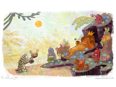 Royal lion africa scbwi digital art animals character design cartoon animation illustration artist kidlit