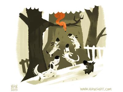 Bounce dogs nature scbwi digital art animals character design cartoon animation illustration artist kidlit
