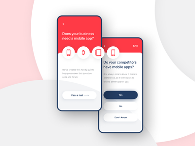 Do you need the app? Survey Page red survey web design iphone x ux ui app mobile