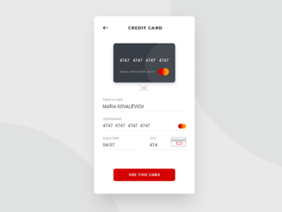 Daily UI #002 A credit card checkout adobe xd daily ui 002 credit card checkout dailyui dailyui002 mobile app