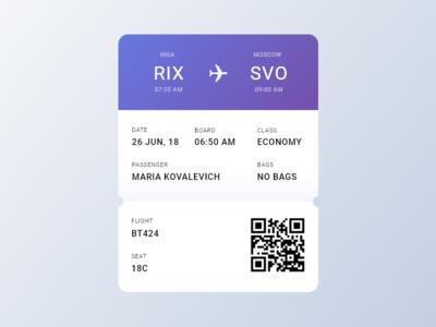 Daily UI #024 Boarding Pass