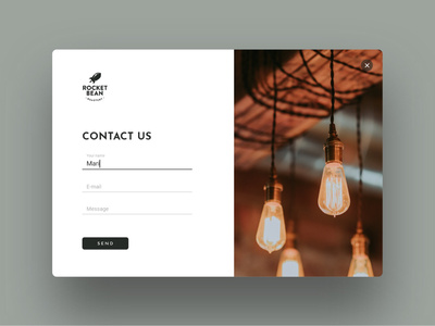 Daily UI #028 Contact Us day 028 dailyui coffee shop contact form