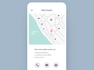 Daily UI #029 Map mobile web contact iphone adobexd daily ui day 029 map dailyui