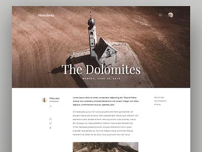 Daily UI #035 Blog Post italy dolomites webdesign blog post daily ui day 035 dailyui