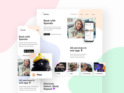 New Landing for Spendo App webdesign web landingpage