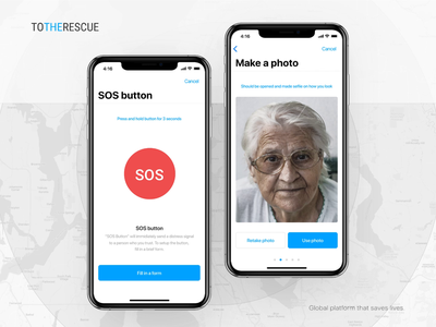 SOS Button — for emergency situations 🚨 design iphone x ux ui app mobile webdesign