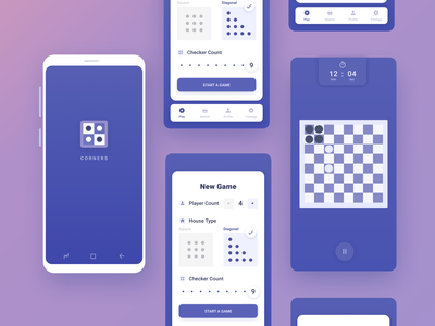 Unity Game Project checkers mobile mobile game app violet blue android unity game ui