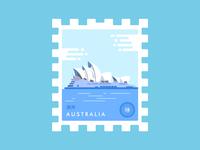 Stamp Australia Sydney Opera