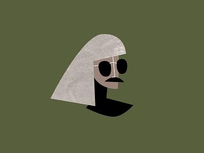 Disguise face evil character design portrait dress up sunglasses wig costume villian disguise