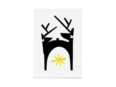 Skidmore Holiday Card 2018 collage cheer antlers fireplace animal asterisk spark love reindeer card holiday