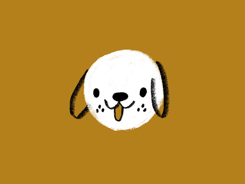 Snowball snowball freckles tongue puppy floppy texture procreate canine ears animal dog