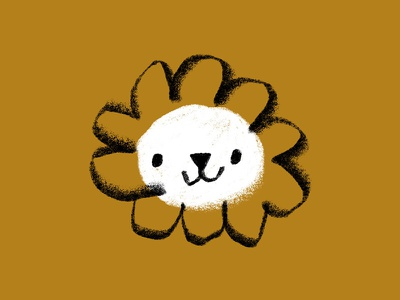 Little Lion dot circle texture flower baby mane animal cub little lion lion