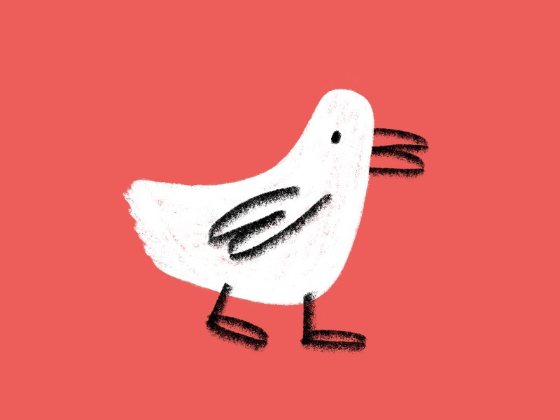 Duck texture illustration shapes water white animal beak duck