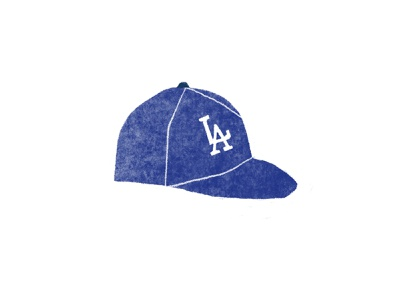 Dodgers sports illustration blue los angeles baseball hat hat mlb baseball dodgers