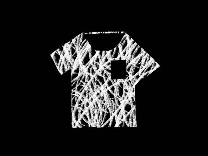 Crazy Shirt summer short sleeve scribble shapes black and white texture pattern t-shirt tee clothing pocket shirt