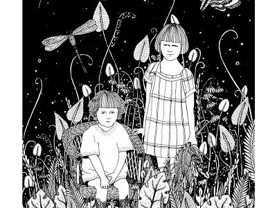 siblings garden ogród dzieci plants rodzeństwo siblings children