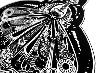 moth butterfly fineliner black illustration drawing animals flowers floral insect moth totem
