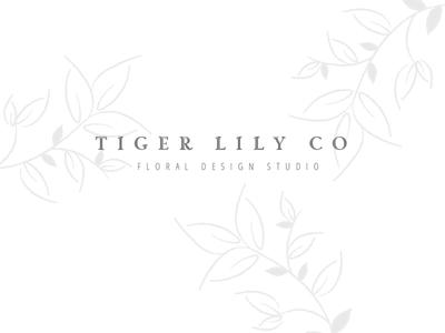 Tiger Lily Co   Floral Design Studio Logo