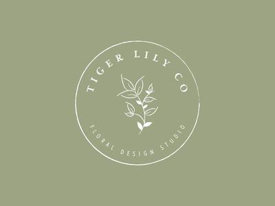 Tiger Lily Co   Floral Design Studio Final Logo
