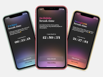 Daily UI 14 — Countdown Timer timer app countdown timer dailyui 014 014 dailyui014 gradient floating apple app design ios daily ui mobile figma dailyui ux ui